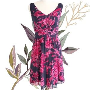 REVIEW Floral Fit 'n' Flare Cocktail / Party Dress